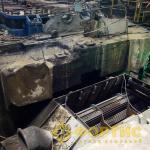Алмазная канатная резка при демонтаже фундамента турбины системой RSS-001