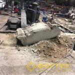 Демонтаж фундамента ЦНС насосно-аккумуляторной станции ТПЦ 1. ПАО ЧТПЗ. ГК Фортис