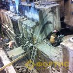 Фортис-Строй. Демонтаж фундамента, канатная дисковая резка ж/б конструкций, разрушение ГДШ.